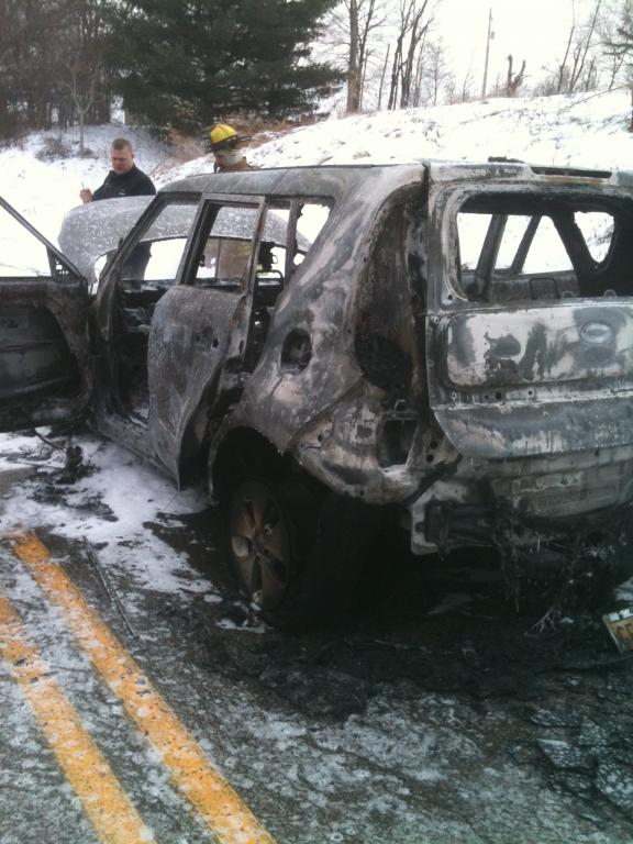 2014 Kia Soul Car Caught On Fire While Driving 1 Complaints