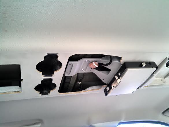 2008 nissan armada overhead console fell 3 complaints