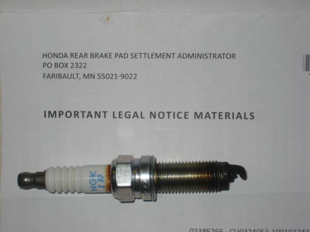 2008 Honda Accord Fouled Spark Plug: 29 Complaints | Page 2
