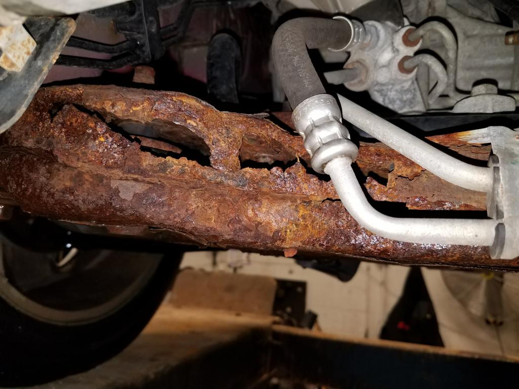 2008 Jeep Compass Front Crossmember Completed Rusted Out