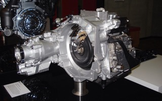 """An three-quarters front view of a VW gearbox"""""""