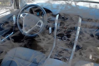 A smog filled Ford interior