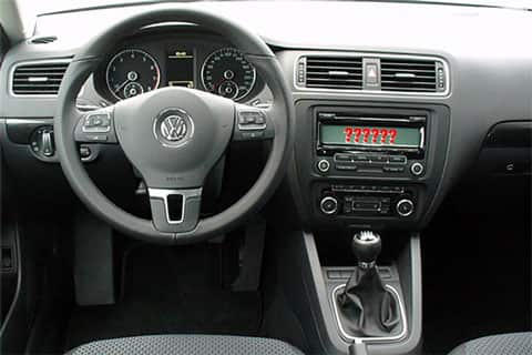 Jetta interior with question marks on radio