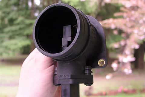 A removed mass airflow sensor