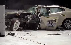 Large Luxury Cars Get Mixed Results in Small Overlap Crash Test