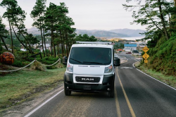 ProMaster van on the road