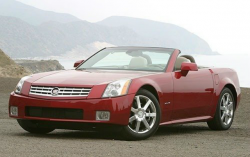 A red XLR with the roof down