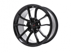 A black set of Corvette wheels on a white background.