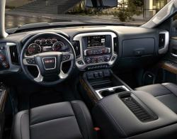 Black interior of Chevy vehicle