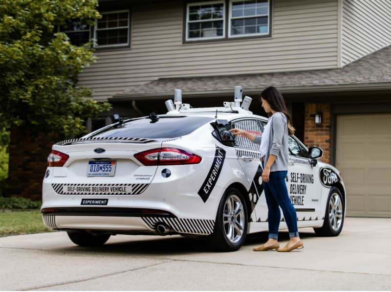 Dominoes self-driving delivery service