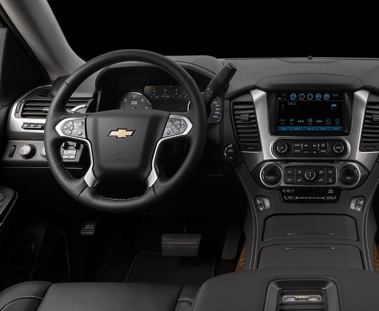 Console view of a Chevrolet vehicle with black interior