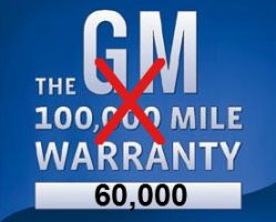 GM Lowers Warranty Coverage From 100,000 Miles to 60,000 Miles