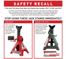 Harbor Freight Jack Stand Lawsuit Filed After Recall
