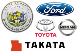 Hawaii Sues Ford, Nissan and Toyota Over Takata Airbags