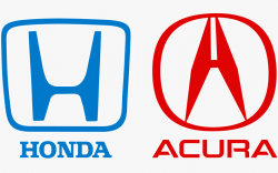 The Acura and Honda logos