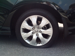Tear In The Bead Of The Tire Could Cause A Flat While Driving.