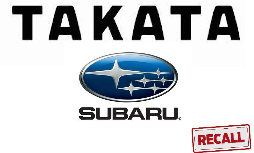 Subaru Recalls 186,000 Vehicles to Replace Takata Airbags
