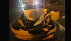 Tesla Model 3 Driver Ignores Road, Crashes Into Police Cruiser