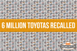 Toyota Recalls 6 Million Vehicles For Air Bag and Seat Problems
