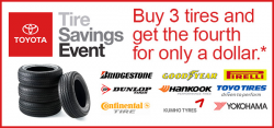 Toyota Tire Savings Event Lawsuit Says Event Isn't a Good Deal